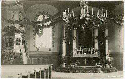 Skrundas luterāņu baznīca. Altāris