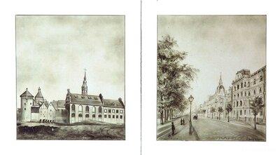 Jaunmoku muižas pils. Atklātņu kopiju fragmenti uz krāsns