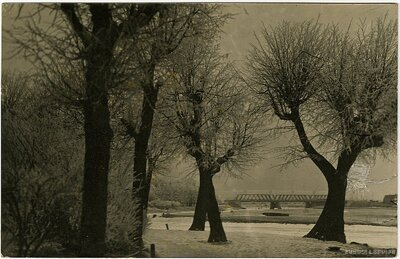 Jelgava. Dzelzceļa tilts ziemā