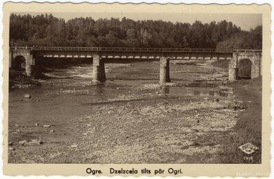 Ogre. Dzelzceļa tilts pār Ogres upi