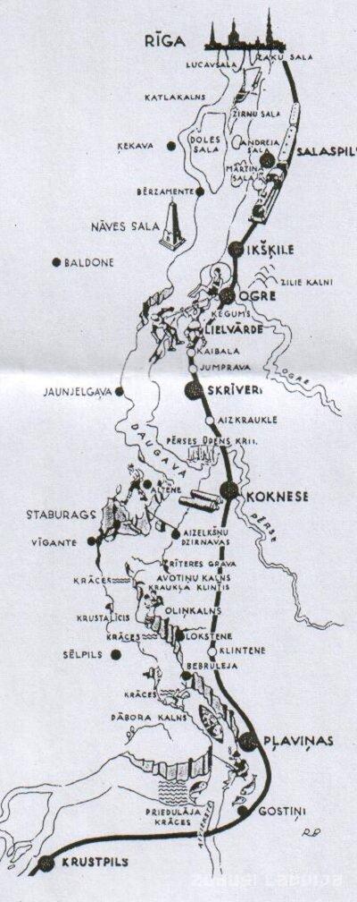 Plāns no Rīgas līdz Krustpilij