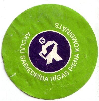 Akciju Sabiedrība Rīgas piena kombināts. Etiķete