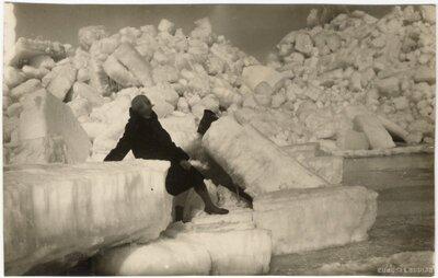 Jūrmala. Ledus sablīvējumi Rīgas jūras līča piekrastē