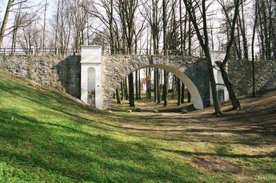 Gājēju viadukts Durbes parkā