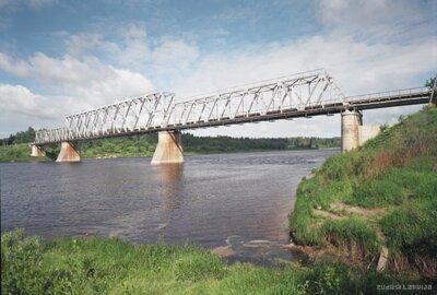 Dzelzsceļa tilts pār Daugavu pie Zelčiem