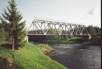 Dzelzceļa tilts pār Gauju pie Strenčiem