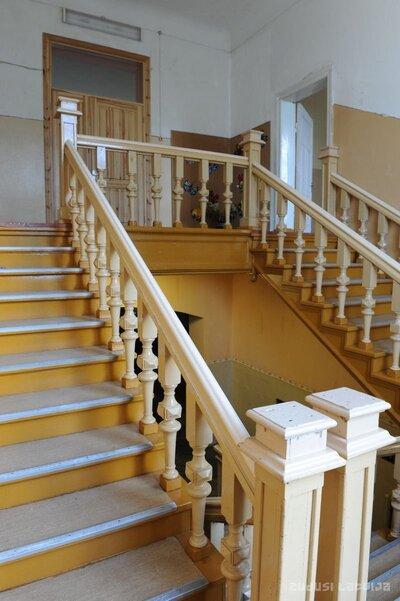 Vārmes muižas kungu māja. Kāpnes