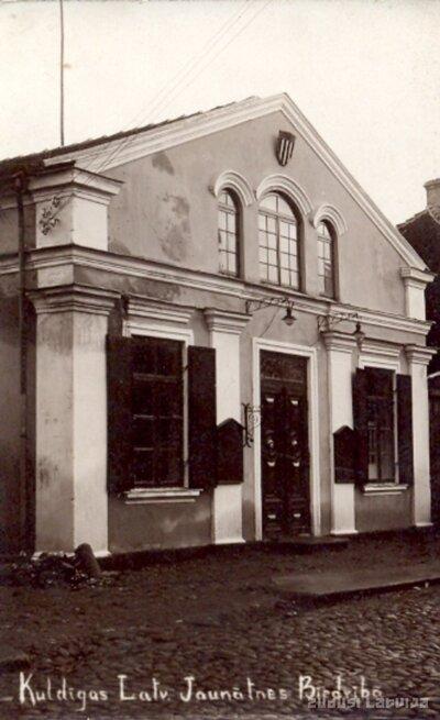 Kuldīgas latviešu jaunatnes biedrības ēka