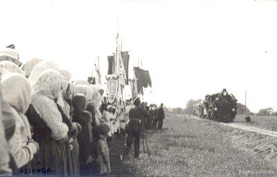 Vilciena pienākšana Alsungā