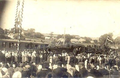 Šaursliežu dzelzceļa satiksmes atklāšana Alsungā