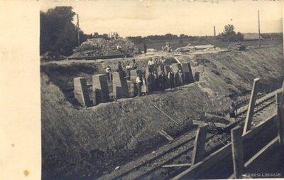Dzelzceļa līnijas ierīkošana Kuldīgā