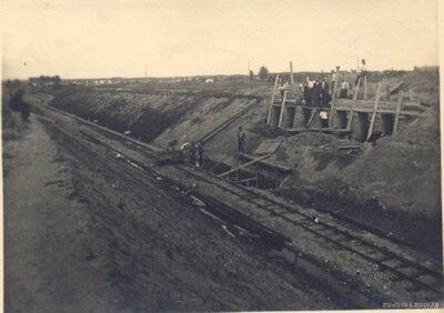 Dzelzceļa līnijas ierīkošana pie Kuldīgas