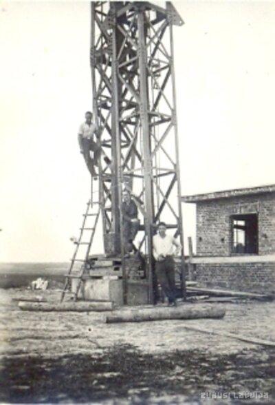 Kuldīgas radio raidstacijas torņa celtniecība