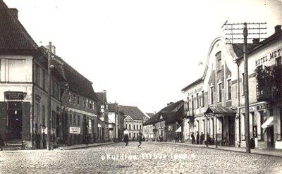 Kuldīgas vēsturiskais centrs. Baznīcas iela no Liepājas ielas puses