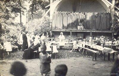 Kuldīgas patērētāju kooperatīva Darbs rīkotie bērnu svētki Kuldīgas pilsētas dārzā