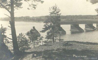 Pļaviņas. Tilts pār Daugavu