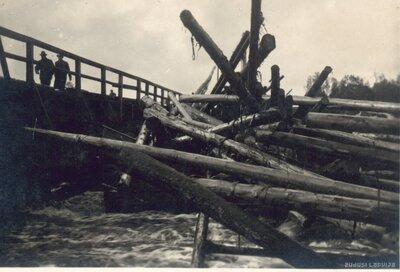 Mēmele. Plūdi Bauskā