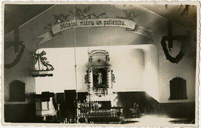 Penkules luterāņu baznīcas altārdaļa