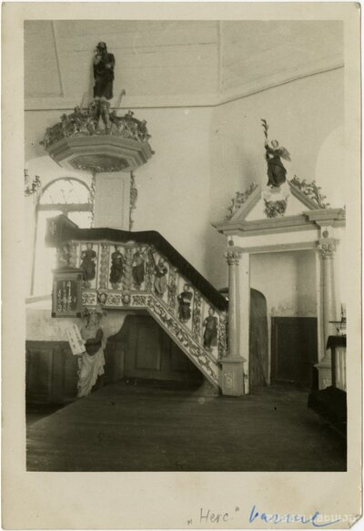 Vārmes luterāņu baznīca. Kancele