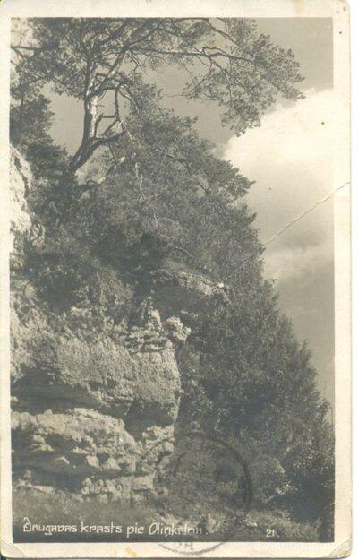 Daugavas krasts. Andreja klints