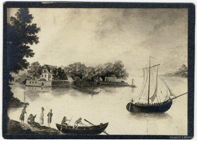 Rīga. Grāvenheides (Garanska) muiža pie Juglas ezera