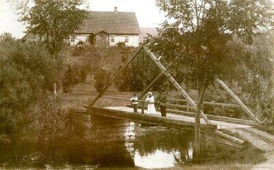 Koka tiltiņš pār Tirzas upi Galgauskā