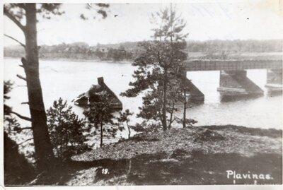 Pļaviņas. Tilts pāri Daugavai