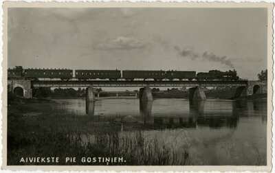 Dzelzceļa tilts pār Aiviekstes upi pie Gostiņiem