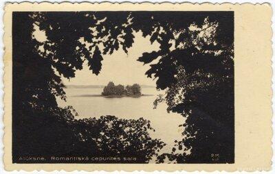Alūksnes ezers. Cepurītes sala