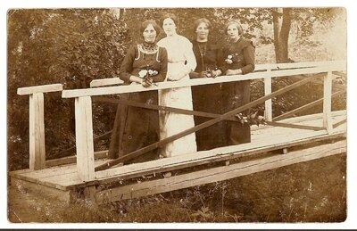Matīšu pagasts. Tiltiņš pār upīti Bauņos