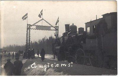 Rīgas - Ērgļu dzelzceļa līnijas atklāšana Augšciemā