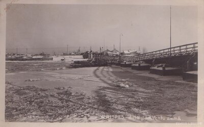Ventspils. Pontonu tilts