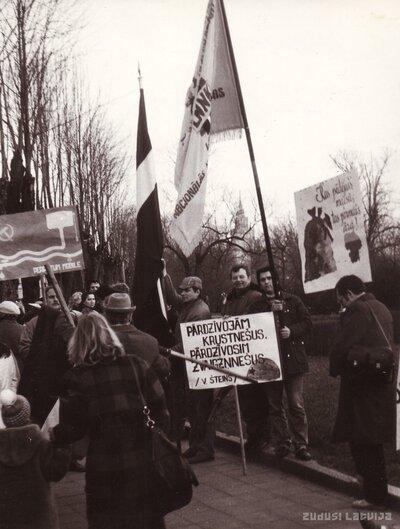 Latvijas Nacionālās neatkarības kustības Ogres nodaļas biedri Rīgā