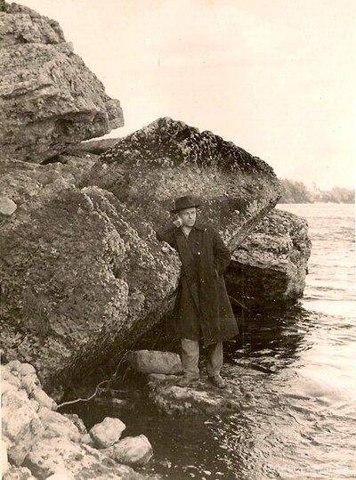 Daugavas krasts netālu no Lokstenes pilskalna