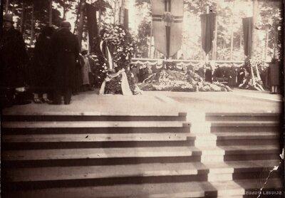 Rīgas Meža kapi. Pirmā Latvijas valsts prezidenta Jāņa Čakstes bēres