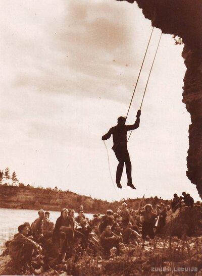 Alpīnistu sacensības Oliņkalnā