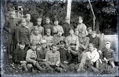 Valmieras kājinieku pulka virsnieki Vecgulbenē