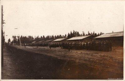 Latvijas armijas Litenes nometne. Karavīru ierinda