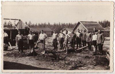 Latvijas armijas Litenes nometnes iekārtošanas darbi