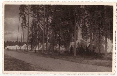 Teltis Latvijas armijas nometnē Litenē