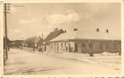 Viļaka. Tagadējo Abrenes un Garnizona ielu krustojums