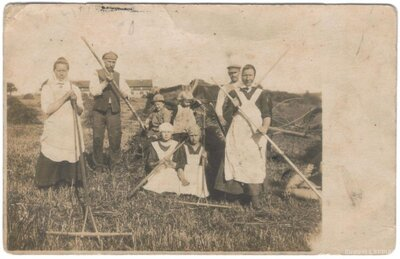 Virgas pagasts. Zemnieku ģimene