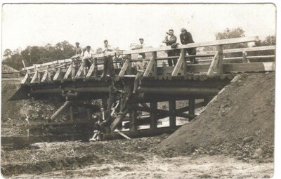 Tilta būve netālu no Liepājas