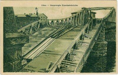 Liepāja. Pirmā pasaules karā cietušais dzelzceļa tilts