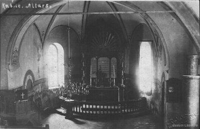 Kabiles luterāņu baznīca. Altāris