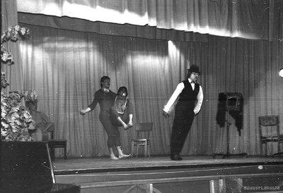 Rīgas pantomīmas izrāde Kauguru kultūras namā 1980.gada 6.novembrī