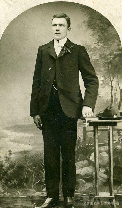 Jānis Bunduls (vēlakais Odzienas pagasta vecākais) 20. gadsimta sākumā