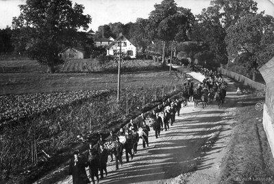 Vietalvas pagasta valdes locekļa, aizsarga Jēkaba Kaņepa bēru gājiens 1936. gadā
