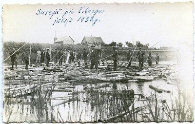 Kokmateriālu pludināšana Dienvidsusējas upē
