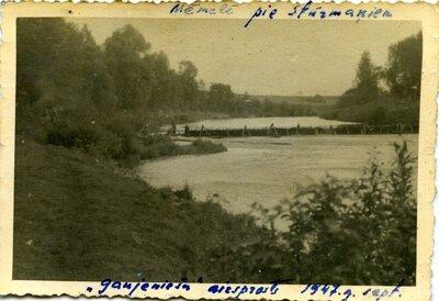 Kokmateriālu pludināšana Mēmeles upē